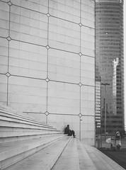 Loner (_Viky_) Tags: paris france french la ledefrance ladefense cbd defense officespace centralbusinessdistrict grandearche grandarch courbevoie parisien businessdistrict
