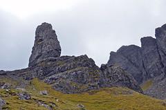Old Man of Storr with Storr cliff behind (Majorshots) Tags: skye scotland isleofskye stack pinnacle trotternish oldmanofstorr storr thestorr westernscotland trotternishpeninsula anstr