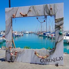 Framed (Mac ind g) Tags: summer espaa holiday art landscape boat spain harbour fuerteventura canarias canaryislands corralejo
