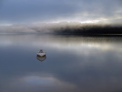 Returning empty (kenny barker) Tags: mist composite boat trossachs lochard kinlochard