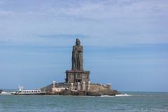 Thiruvalluvar Statue, Kanyakumari (Vamsidhar CV Naga) Tags: india statue poet tamilnadu kanyakumari thiruvalluvar