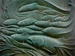 Salmon Run (the mindful fox) Tags: sculpture fish memorial salmon richmond steveston garrypointpark fishermensmemorial memorialsculpture fishermensneedle