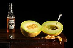 Lemondrop Melon and Beer (Studio d'Xavier) Tags: stilllife melon beer strobist 1
