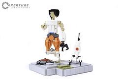 Portal 2 Figurines. (Lego Junkie.) Tags: 2 lego portal turret chell