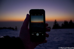 Different focal length (Manuel Bu) Tags: trees snow color tree nature colors beautiful germany landscape horizon wide wideangle bluehour beautifulcolors schwarzwald blackforest iphone aftersunset hornisgrinde southerngermany focallenght iphone5s blackforestnationalpark