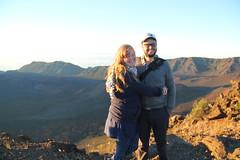 Naomi and Benjamin Wildflower (kahunapulej) Tags: usa sunrise hawaii ben maui mount haleakala naomi benjamin wildflower