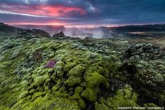 Volcanic Sunset (skarpi - www.skarpi.is) Tags: iceland volcano northiceland krafla lava highlands sunset phototour photoworkshop supertruck superjeep skarpi arctic arcticexposure travelagency island green
