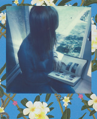 watermusic (undertovv) Tags: blue nature water girl polaroid reading mineral melancholy piryt