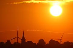 IMG_5359 (Yorkshire Pics) Tags: 2107 21072016 july leeds leedscitycentre sunrise silhouette windturbine garforth