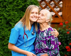 Loving our Clients (VIP Care Solutions Ltd.) Tags: old two people woman green love home senior smile smiling female hospital garden outdoors happy togetherness support kiss respect safety medical health together doctor elderly age trust service nurse positive caring kindness care alzheimers residential aging healthcare nursing stethoscope disease grandparent parkinsons confidential pleased caucasian eldercare homecare elderlycare
