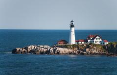 Portland Head Light (John Bense) Tags: lighthouse maine coast ocean water sea light portland head portlandheadlight rocks nature landscape wave waves