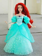 Custom Disney Parks Ariel Dress (They Call Me Obsessed) Tags: ariel disney world disneyland parks theme park face character exclusive little mermaid doll dolls barbie ooak sewing dress dresses gown blue pink redesign red hair fish royal princesses princess
