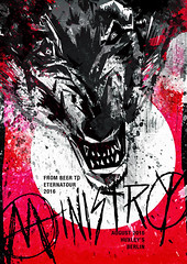The Final Poster (ftrc) Tags: ministry poster felipetofani design graphicdesign grunge dirty everyconcertanewflyer portflio wolf