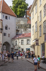 Medieval Tallinn (AudioClassic) Tags: people tallinn estonia lantern oldtown city old medieval easterneurope balticcountries sky clouds house church history horizontal summer urbanscene internationallandmark castle outdoors travellocations cityscape landscape tower cathedral day roof architecture famousplac