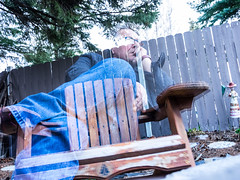 The 100 Day Project 5/100 - Double Trouble (howardpa58) Tags: 100daysofolympus the100dayproject backyard chair doubleexposure em1 ghostly olympus omd omdem1 paulhowardphotography