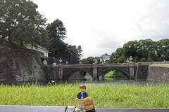 Travels of badger - Seimon Ishibashi Bridge to the Main Gate of the Imperial Palace (enigmabadger) Tags: brickarms lego custom minifig minifigure fig accessory accessories japan asia vacation trip travel outdoors japanese