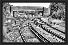 04.07.16 A Bridge too Far... (Tadie88) Tags: nikond7000 nikon18200lens norwoodjunction london stations tracks signals platforms bridges blackwhite railwayviews