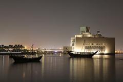Museum of Islamic Art by night...(2) (John Konstandis) Tags: qatar doha water sea seacoast museum museumofislamicart ship night nightphotography longexposurephotography canoneos5dmarkiii canonef24105mmf4lisusm