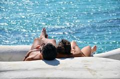 In bilico...tra tutti i miei vorrei... (encantadissima) Tags: scaladeiturchi realmonte agrigento sicilia coppia mare ombra roccia marna colori relax
