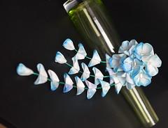 Turquoise hydrangea tsumami zaiku (Bright Wish Kanzashi) Tags: hydrangea ajisai      kanzashi tsumami zaiku blue