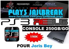 Joris Bey (play3jailbreak) Tags: play3 jailbreak achat acheter commander ps3 slim 250gb dex rebug 475 manette joris bey envoi france mondial relay