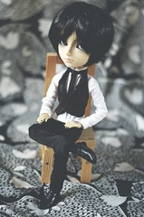 Someone new... (Dragonella~) Tags: taeyang sebastian james doll groove suit black butler kuroshitsuji dragonella nikon d5100 blackbutler