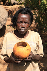 Omo Valley Tribal Villagers Ethiopia Horn of Africa (eriagn) Tags: africa hornofafrica ethiopia tribe tribal villagers boy lad woman women toddler gourd village portrait eriagn ngairehart ngairelawson travel photography people ethnic toy omovalley