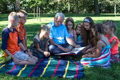 Jack reading to kids