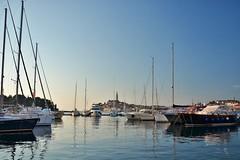 harbour of Rovinj (picture.line) Tags: harbour rovinj croatia istria boats sunset seaside