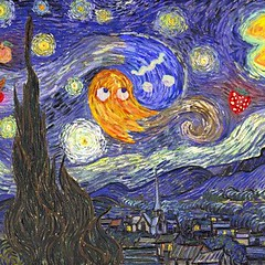 Pacman Art. (VCP95) Tags: videogames pacman art starrynight