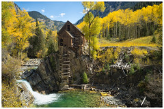 Crystal Mill (Bryan the Roving Vagabond) Tags: crystal mill marble colorado co usa fall autumn river waterfall wooden serene outdoor landscape water explore aspens cottonwoods trees