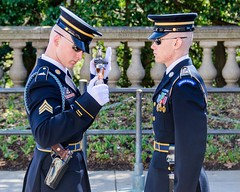 Close Inspection (Kevin MG) Tags: usa arlington soldier virginia memorial cemetary ceremony rifles unknown soldiers marines guards weapons