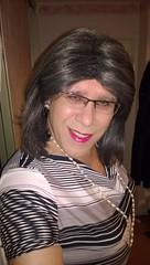 Abstract stripe dress (rachel_uk2004) Tags: stockings crossdressing dresses transvestite crossdresser