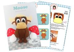 Alce Apostila (AnnCrafts Artesanato) Tags: baby animal decoration feitomo felt feltro floresta decorao esquilo bichinhos moldes raposa alce feltdoll apostila bonecasfeltro