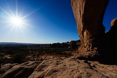 Victory (Rkitichai) Tags: nature landscape utah nationalpark rocks unitedstatesofamerica arches victory moab trophy canyons sunstar