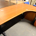 Cherry L-shaped desk