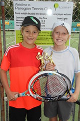 3.45pm group Doubles winners Logan & Harry IMG_9856