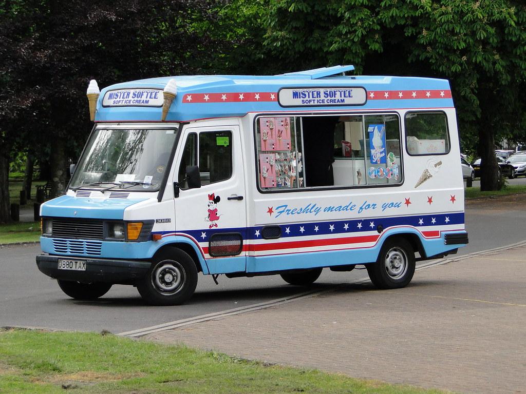 Mister Softee Mercedes Benz 308D Ice Cream Van 5asideHero Tags