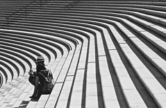 Stairway (heiko.moser) Tags: street city people bw streetart blancoynegro stairs canon person mono leute noiretblanc candid strasse streetportrait nb menschen stairway sw monochrom publicity schwarzweiss nero personen discover streetfoto einfarbig schwarzweis blackwihte entdecken streetfotografie heikomoser