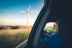 Backseat (modesrodriguez) Tags: landscape catalonia catalua catalunya parqueeolico santacolomadequeralt windmill manmade car longexposure handheld