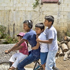 4 kids on a bicycle (Pejasar) Tags: children boys girl family transport travel transportation bicycle kids antigua guatemala