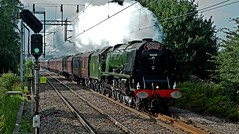 cumbrian mountain express (midcheshireman) Tags: steam train locomotive duchess duchessofsutherland 46233 mainline cheshire cumbrianmountainexpress
