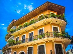 A recently restored building in casco viejo.