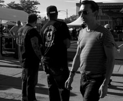 The Dude (tacosnachosburritos) Tags: rockabilly chicago westtown motoblot motorcycle rockers mods badass girl woman chick chix man dude guy triumph bike biker street photography thestreets rebel urban gritty windy city