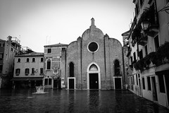 Venetian Church (Captivating Concepts) Tags: venice venetian holy church architecture travel traveler abroad blackandwhite bw italy city street urban brick catholic ancient life grit gritty rain