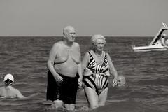 hard times (Stefano E) Tags: sea people blackandwhite italy love beach couple italia mare candid persone oldpeople truelove amore spiaggia biancoenero coppia emiliaromagna manandwoman anziani comacchio lidodispina
