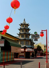 Los Angeles China Town (Prayitno / Thank you for (10 millions +) views) Tags: china california ca blue sky building architecture la pagoda town los day time angeles outdoor chinese sunny architect lampion lampoon konomark