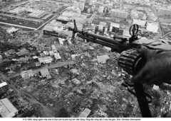 0000405525-001 (ngao5) Tags: people soldier 1 holding hands war asia southeastasia gun military aerialview battle vietnam weapon cropped waste bodypart saigon hochiminhcity machinegun rubble urbanscenes viewfromabove southvietnam militarypersonnel historicevent asianhistoricalevent northamericanhistoricalevent unitedstateshistoricalevent vietnamwar19591975 vietnamesehistoricalevent southeastregion
