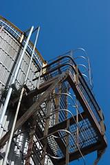 Climbing Industry (frisiabonn) Tags: kings warf ladders ladder merseyside birkenhead seacombe rusty rust old rotting rundown unused industry climb pipe uk great britain england united kingdom