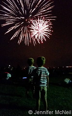 July 4, 2016 - The McNeil twins take in the fireworks. (Jennifer McNeil)